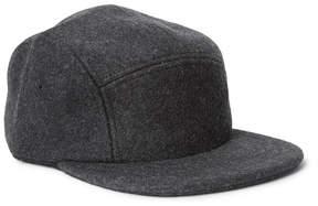 Filson Leather-Trimmed Mélange Wool-Felt Baseball Cap