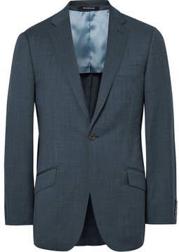 Richard James Blue Slim-Fit Pin-Dot Super 110s Wool Suit Jacket