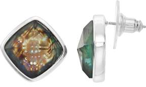 Dana Buchman Simulated Abalone Square Stud Earrings