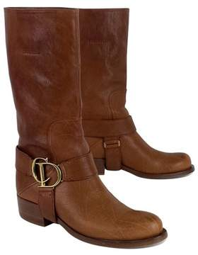Christian Dior Brown Leather Riding Boots