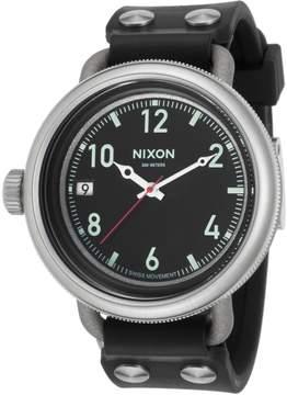 Nixon Men's October Black Dial Watch, 49mm