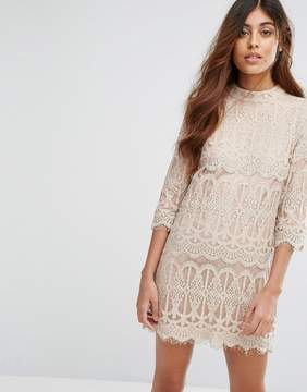 Goldie Sixties Vibe A Line Dress In Lace