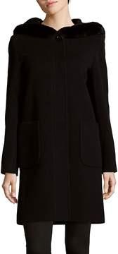 Cinzia Rocca Women's Rabbit Fur Trim Wool-Blend Coat