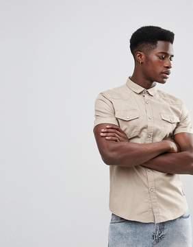 Brave Soul Double Pocket Short Sleeve Shirt