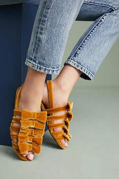F-Troupe Velvet Bow Sandals