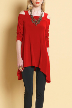 Clara Sunwoo Cold Shoulder Tunic Top