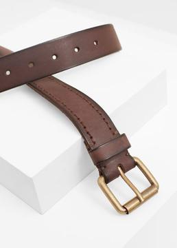 Mango Outlet Leather belt