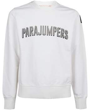Parajumpers Men's Pmflecf01501 White Cotton Sweatshirt.
