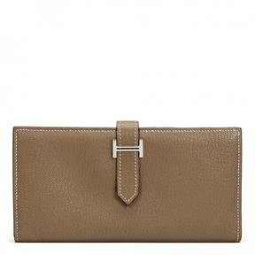 Hermes Béarn leather wallet - BROWN - STYLE