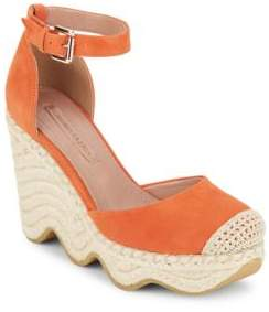 BCBGMAXAZRIA Goat Leather Da Ambrosia Wedge Espadrilles