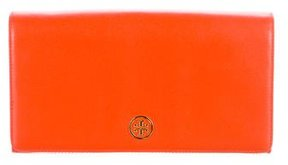 Tory Burch Pebbled Leather Travel Wallet