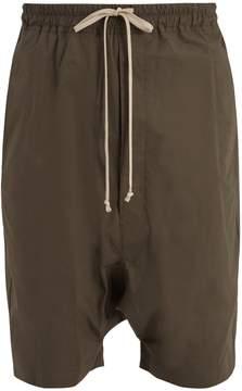 Rick Owens Dropped-crotch cotton shorts