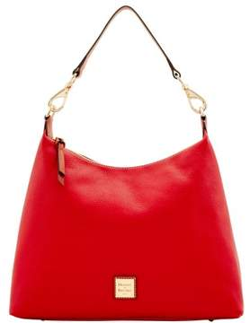 Dooney & Bourke Pebble Grain Juliette Hobo Shoulder Bag - RED - STYLE