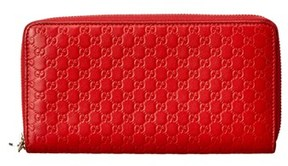 Gucci Red Guccissima Leather Zip Around Wallet. - RED MULTI - STYLE