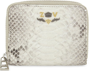 Zadig & Voltaire Savage snakeskin-embossed leather wallet