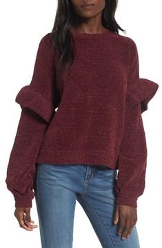 BP Women's Ruffle Chenille Sweater