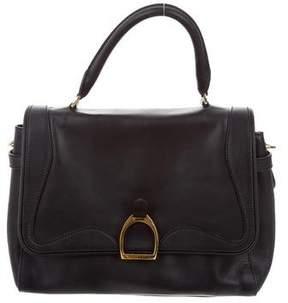 Ralph Lauren Leather Top Handle Satchel