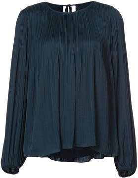 Elizabeth and James pleated balloon sleeve blouse