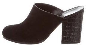 Alexa Wagner Suede Round-Toe Mules w/ Tags