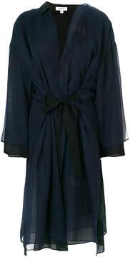 Enfold panelled chiffon robe