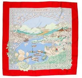 Hermes Le Fleuve Sacre Silk Scarf