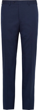 Canali Blue Stretch-Wool Suit Trousers