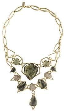 Alexis Bittar Labradorite & Pyrite Doublet Collar Necklace