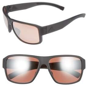 Women's Adidas Jaysor 60Mm Sunglasses - Dark Grey Matte/ Taupe