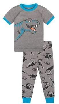 Petit Lem Little Boys' Two-Piece Dino Skate Park Pajama Set
