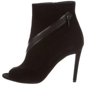 Christian Dior Suede Embellished Ankle Boots