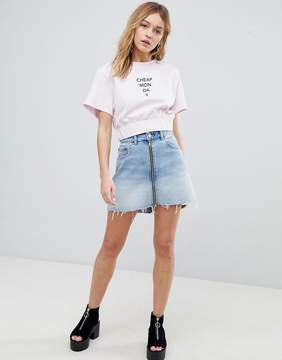 Cheap Monday Logo Crop T Shirt