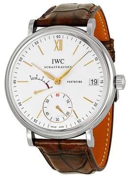 IWC Portofino Hand Wound Eight Days Silver Dial Men's Watch
