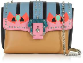 Paula Cademartori Geranium Pink Carine Love Shoulder Bag