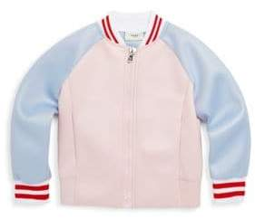 Fendi Toddler's, Little Girl's& Girl's Varsity Logo Jacket