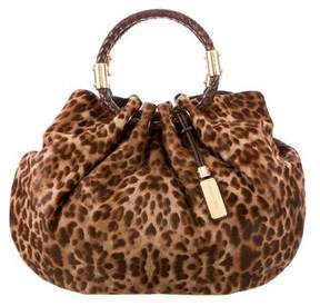 Michael Kors Ponyhair Skorpios Shoulder Bag