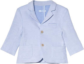 Mayoral Light Blue Knit Blazer