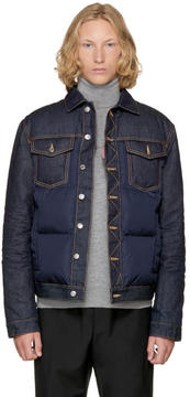 DSQUARED2 Navy Down Denim Jacket