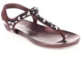 Pedro Garcia Judith Castoro Lame Thong Sandals