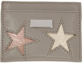 Stella McCartney Taupe Stars Card Holder
