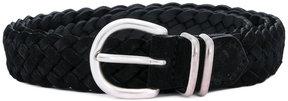 Eleventy braided buckle belt