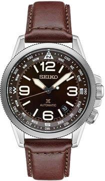 Seiko Mens Brown Strap Watch-Srpa95