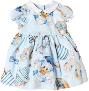 MonnaLisa Donald Duck Printed Cotton Muslin Dress
