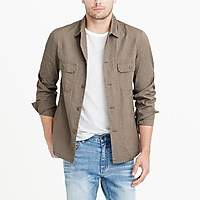 J.Crew Factory Lightweight cotton shirt-jacket