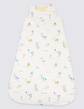 Marks and Spencer Pure Cotton All Over Print 2.1 Tog Sleeping Bag