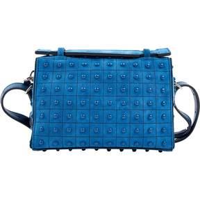 Tod's Blue Suede Handbag