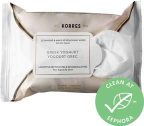 Korres Greek Yoghurt Cleansing & Make-Up Removing Wipes for All Skin Types