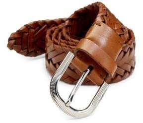 Brunello Cucinelli Leather Braided Belt