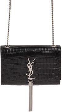 Small Kate Monogram Croc Embossed Bag