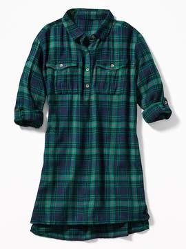 Old Navy Plaid Shirt Dress for Girls