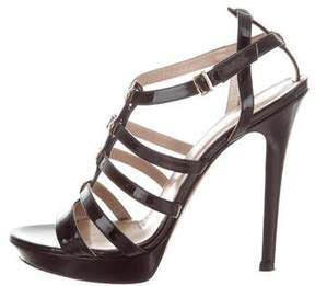 Versace Patent Leather Cage Sandals